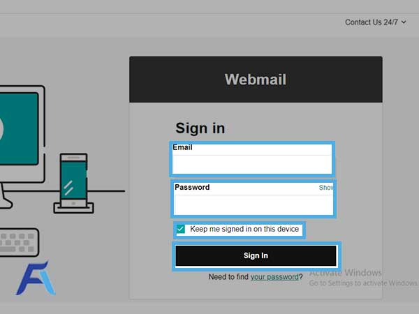 hit the Sign-in button to access your GoDaddy account