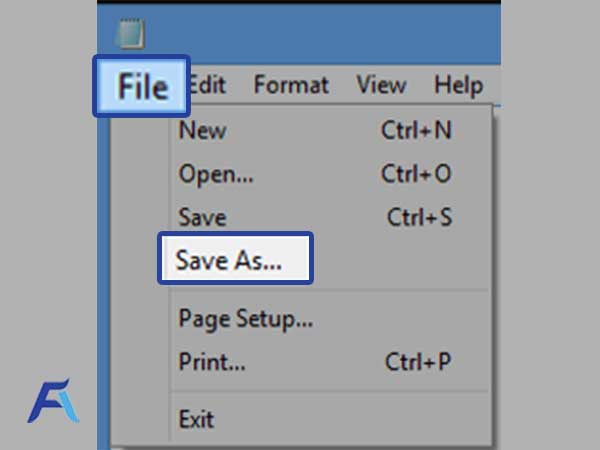 click on the 'File' tab and select 'Save As'