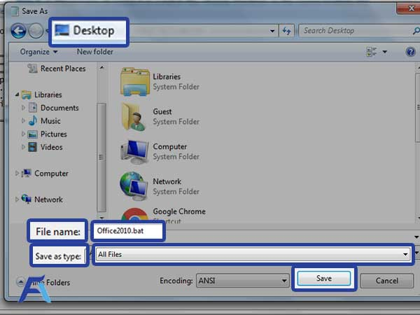 choose All Files  and Hit Save button