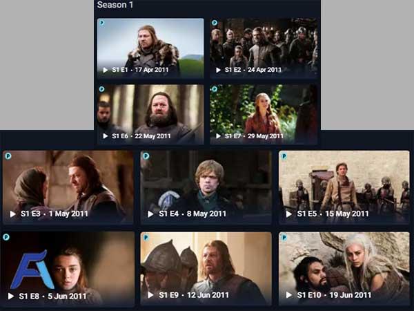 Index Game of Thrones
