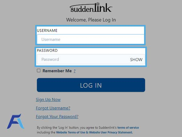 """text fields for """"Username"""" and """"Password"""""""