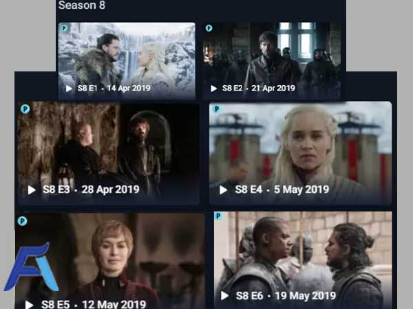 Index of Game of Thrones All Season