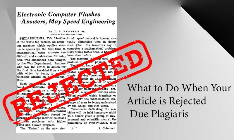 What to Do When Your Article is Rejected Due Plagiarism